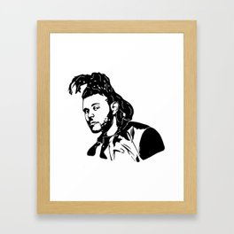 GET WITH THE WEEKEND Framed Art Print