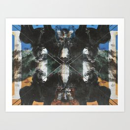 superimposed Art Print