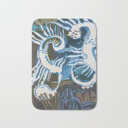 Always with you will be memories about beautiful sea & summer. Bath Mat