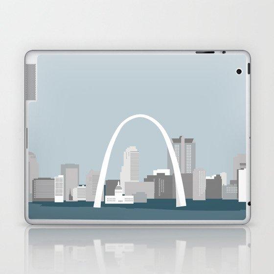 Modern Minimal St. Louis Missouri City Skyline Laptop & iPad Skin