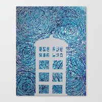 tardis Canvas Prints featuring Tardis by Sahara Novotny