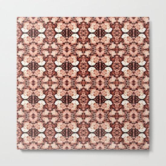 Old Rose Roses Seamless Pattern Metal Print