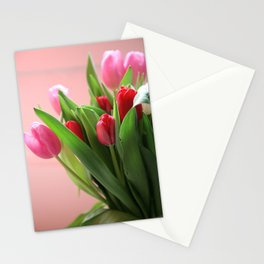 spring tulips photograph Stationery Cards
