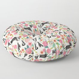 Bull Terrier floral dog breed gifts pet pattern by pet friendly bull terriers Floor Pillow