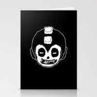 mega man Stationery Cards featuring MISFITS MEGA MAN SKULL by UNDEAD MISTER / MRCLV