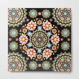 Flower Crown Bijoux Metal Print