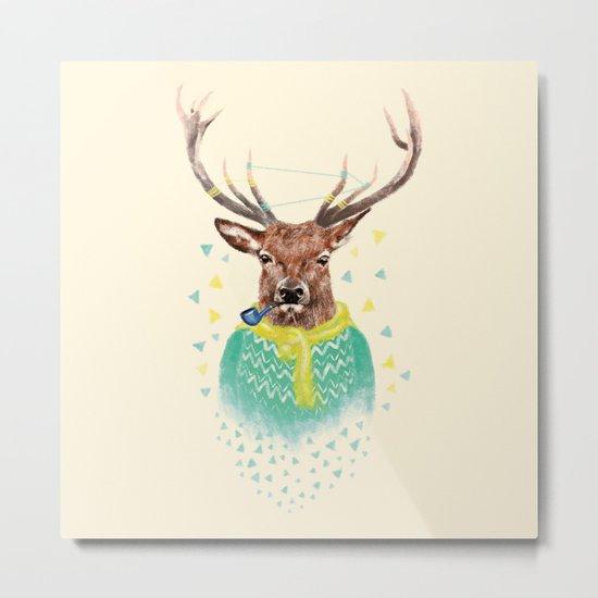 Wonder Deer Metal Print