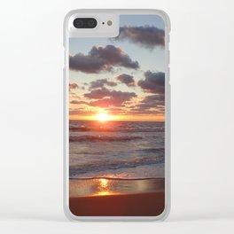 Virginia Beach Sunrise Clear iPhone Case