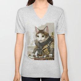 Rider Cat Unisex V-Neck
