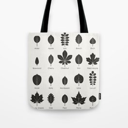 European Tree Leaves Tote Bag