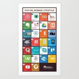 Digital Nomad Lifestyle Art Print