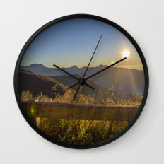 Sunrise on the Blue Ridge #2 Wall Clock