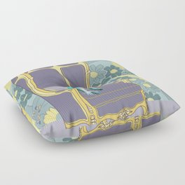 Dog in a chair #4 French Bulldog Floor Pillow