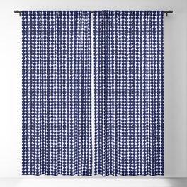 Midcentury Modern Dots Navy Blackout Curtain