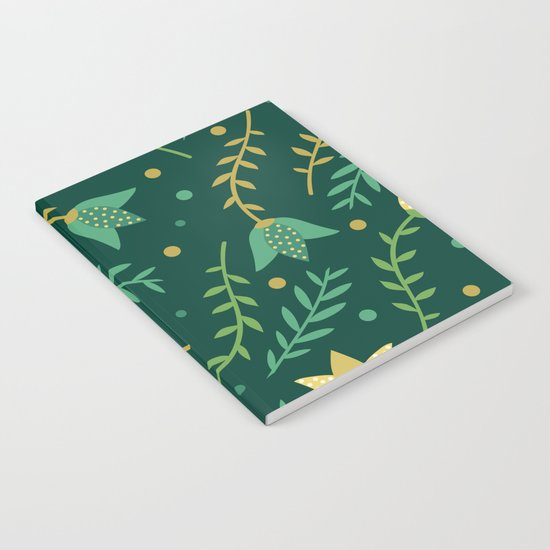 Floral bright pattern Notebook