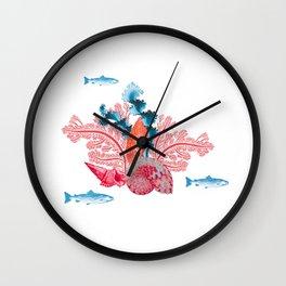 Fonds marins Wall Clock