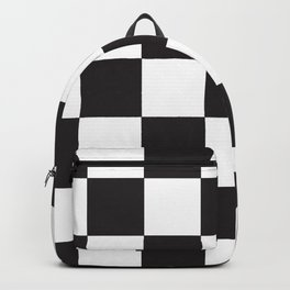 Black and White Checkered Pattern Backpack