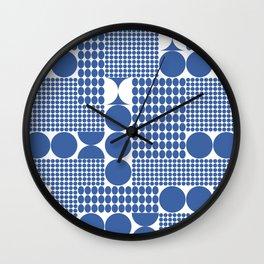 POTS OF SPOTS BLUE Wall Clock