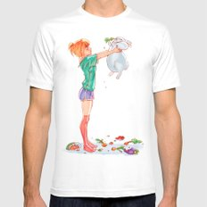 Half Rabbit, Half Pig White Mens Fitted Tee SMALL