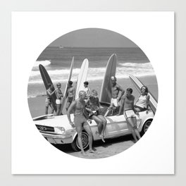 Cool Kids Black and White Canvas Print