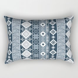 Colorful Aztec pattern with dirty blue. Rectangular Pillow