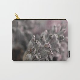 Pretty Pink Grey Lavender Flower Carry-All Pouch