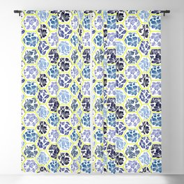 Blue Spring Honeycomb  Blackout Curtain