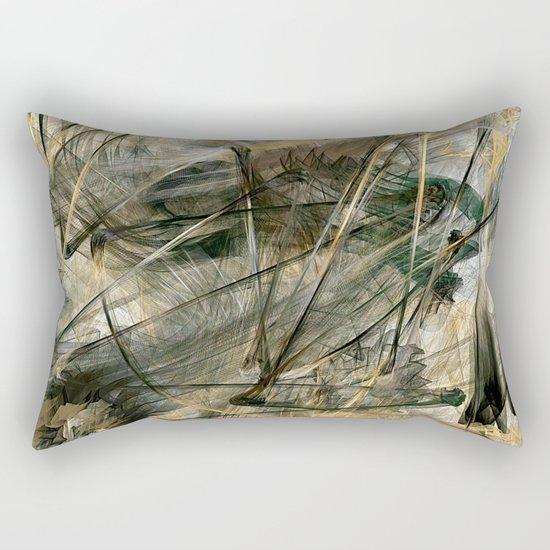 Silver and Gold Rectangular Pillow