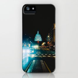 View of US Capitol Building from North Capitol Street iPhone Case