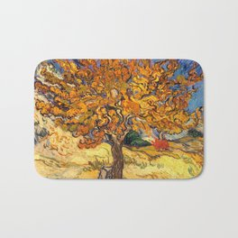The Mulberry Tree by Vincent van Gogh Bath Mat