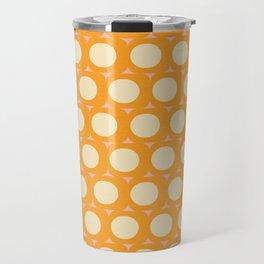 Dots and Triangles Yellow  #midcenturymodern Travel Mug