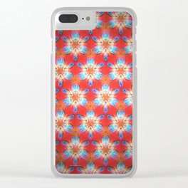 Nine-Pointed Star Flower: Perfection Clear iPhone Case