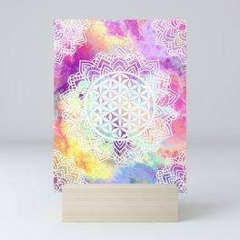 Flower Of Life (Batik 13) Mini Art Print