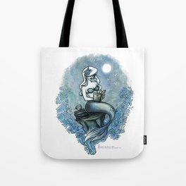 Bookish Mermaid W  Tote Bag