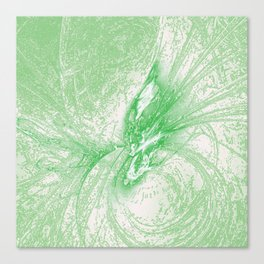 Splatter in Limeade  Canvas Print