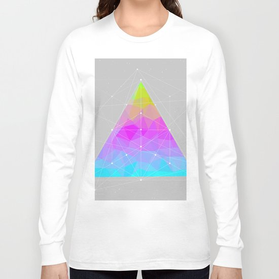 The Dots Will Somehow Connect (Geometric Pyramid) Long Sleeve T-shirt