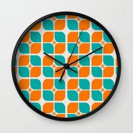 Retro 70s Vintage Modern Mid Century Geometry Wall Clock