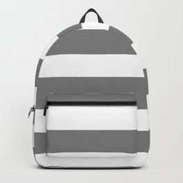 Horizontal Stripes - White and Gray Backpack