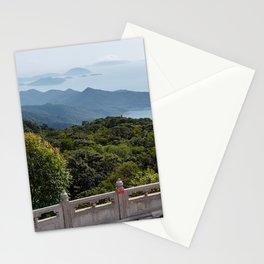 View from Tian Tan Buddha, Lantau Island, Hong Kong Stationery Cards
