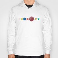 planets Hoodies featuring Happy Planets. by Caleb Boyles