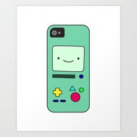 bmo Art Prints featuring BMO by Arielle Weiler