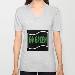 Go Green Unisex V-Neck