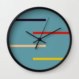 Abstract Retro Stripes Miranda Wall Clock