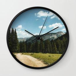 Mountain Roads Wall Clock
