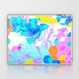 Pop Floral Cube Pattern 1 #fashion #pattern #lifestyle Laptop & iPad Skin