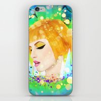 hayley williams iPhone & iPod Skins featuring Digital Painting - Hayley Williams by EmmaNixon92