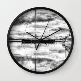Silver Sailboat Wall Clock