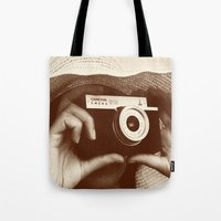 photographer Tote Bags featuring Photographer by XfantasyArt