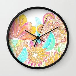 FLORES ALEGRES Wall Clock