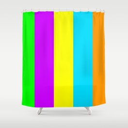 Neon Mix #3 Shower Curtain